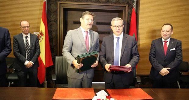 التوقيع بمراكش على مخطط العمل في مجال العدالة بين المملكتين المغربية والإسبانية في إطار أعمال مؤتمر مراكش الدولي للعدالة
