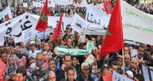 مسيرة حاشدة بالدار البيضاء دعمًا للقدس والقضية الفلسطينية