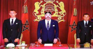 جلالة الملك يوجه خطابا للشعب المغربي غدا  الاثنين  بمناسبة ذكرى ثورة الملك والشعب