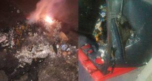 حاويات قمامة من الحجم الكبير تتعرض إلى إضرام نار من قبل مجهولين بمناطق من حي المسيرة الأولى بمراكش