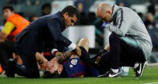 رسميا … برشلونة يحدد مدة غياب ميسي بعد الإصابة