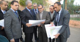والي جهة مراكش آسفي في زيارة ميدانية لمشروع تهيئة ساحة الباهية وعرصة بوعشرين