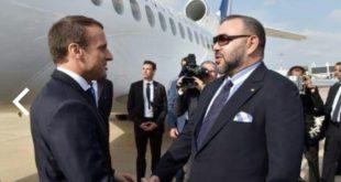 جلالة الملك يستقبل الرئيس الفرنسي لتدشين اول قطار فائق السرعة بالقارة السمراء