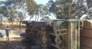 انقلاب شاحنة عسكرية يتسبب في مصرع جندي ببني ملال