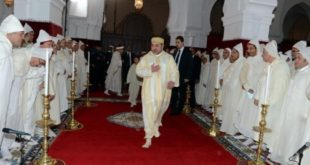 """جلالة الملك يترأس غدا الاثنين إحياء ليلة المولد النبوي الشريف بمسجد """" حسان"""""""