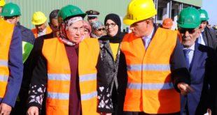 مراكش- مركز فرز وتثمين النفايات المنزلية المفتتح من قبل نزهة الوفي- معطيات الإنشاء والأهداف المرامة