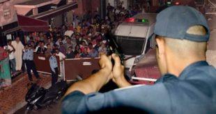 توقيف شخص من ذوي السوابق القضائية يتسبب في جرح شرطيين بوجدة