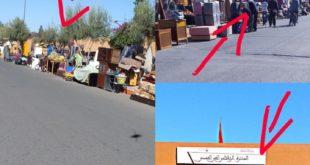 محاربة احتلال الملك العمومي بحي كاسطور بمراكش … «الكذبة الكبرى» + صور