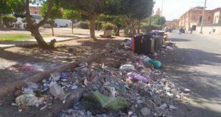"""مراكش : """"اختلالات"""" و""""عشوائية"""" في تدبير النظافة بمنطقة المنارة"""
