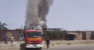 مراكش: حريق مهول يأتي على وحدة لصناعة الأفرشة بالمحاميد