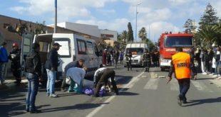 برشيد: مقتل 4 أطفال و إصابة العشرات في اصطدام بيكوب تقل أطفالا بلاقط هوائي