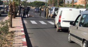 حادثة سير مميتة أمام مقر ولاية جهة مراكش +صور