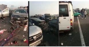 """إصابة 24 شخصا بجروح خطيرة إثر اصطدام 40 سيارة و شاحنة بـ """"لوطوروت"""" الدار البيضاء مراكش"""
