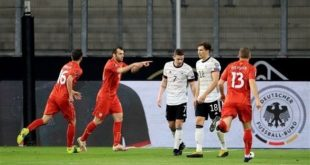 """مفاجأة من العيار الثقيل…  ألمانيا تنهزم بميدانها أمام منتخب """"مقدونيا الشمالية"""""""