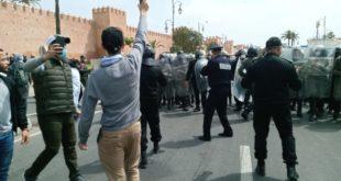 جمعية حقوقية تكشف عدد الأستاذة المعتقلين بالرباط و موعد إطلاق سراحهم