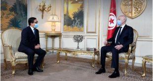 """بوريطة يصل إلى تونس ويسلم """"قيس سعيد"""" رسالة من الملك"""