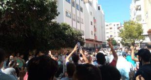احتجاجات وتدخل أمني تزامنا مع محاكمة أساتذة التعاقد